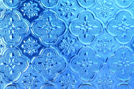 Blue glass texture  photo