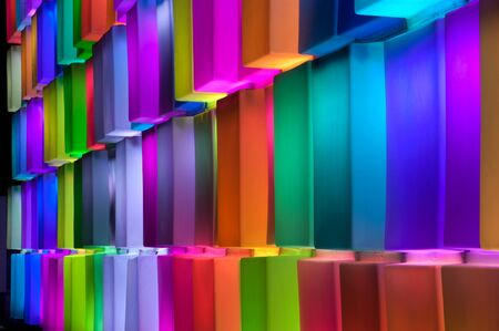 Rainbow colorful on the wall   Stock Photo - 16531705