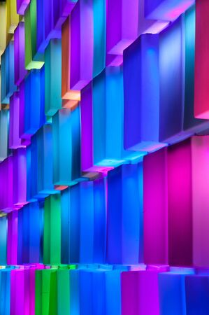 Rainbow colorful on the wall Stock Photo - 16529169