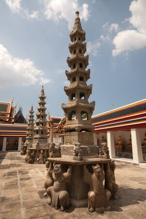 Chinese pagoda style in Wat Pho Thai temple in Bangkok,Thailand  Stock Photo - 16529523