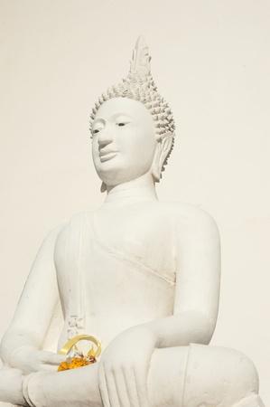 buddhist structures: White buddha   Stock Photo
