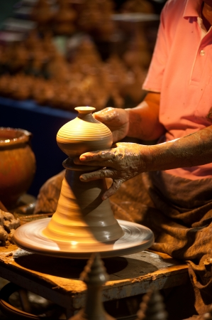 A flowerpot from clay