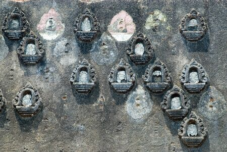 Ancient Thai art texture on the wall   photo