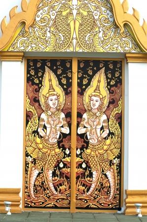Thai art on the door  photo