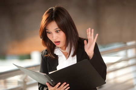Exciting pretty Asian businesswoman   photo
