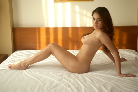 Sexy beautiful Asian woman posing nude   Stock Photo