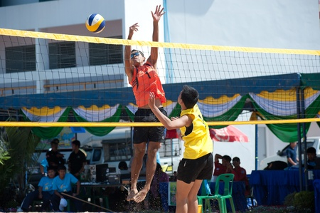 Beach volleyball in 40th Thailand University Games  Stock Photo - 17586281