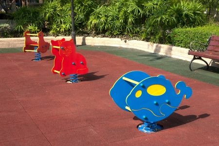 Colorful Playground in a park