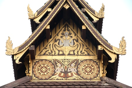about age: Ancient  art collection of Buddhist scripture  age of about 400 years at Wat Sri Pho Chai temple in ,Loei Province,Northeast of Thailand