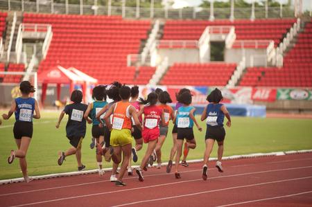 PHATUMTANI,THAILAND � SEPTEMBER,6  Groups of player action of 1500 m  in Thailand Open Athletic Championships 2013 at Thammashat University stadium on September 6,2013 in Phatumtani city ,Middle of Thailand