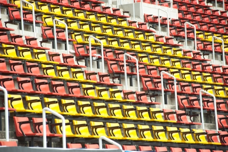 Colorful of seats in stadium