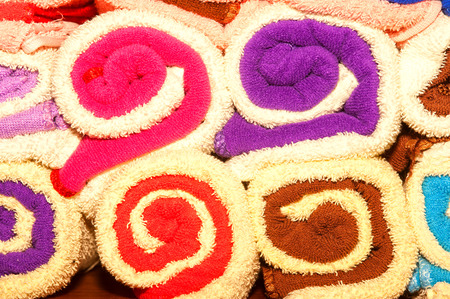 trundle: Colorful towels