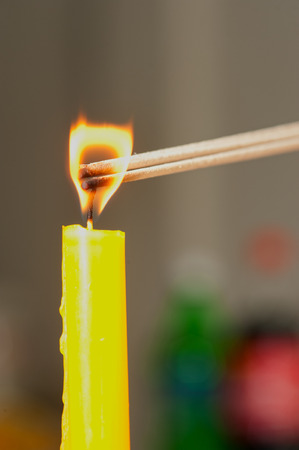 ignite: Light candle is the ignite of incense
