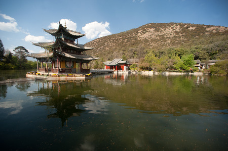 Black Dragon Pool in Lijiang,Yunnan in Southwestern of China  photo