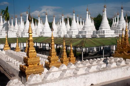 stupas: Group of stupas in Sanda Muni Paya temple of Myanmar