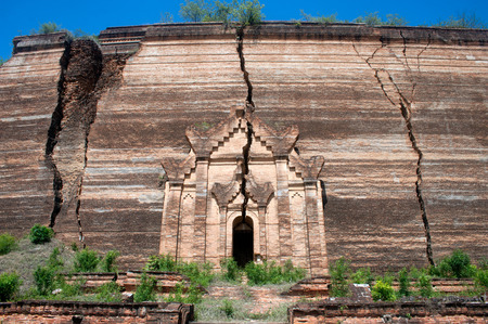 Ruined Pagoda in Mingun Paya or Mantara Gyi Paya ,Myanmar
