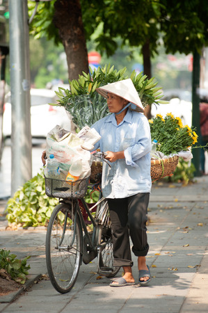 street vendor: Typical street vendor in Hanoi,Vietnam.
