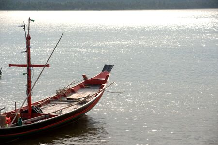 long tailed boat: Traditional fisherman long tailed boat in Koh Phitak island, Thailand.