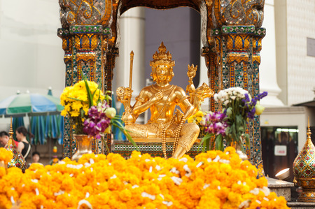 The shrine of the four-faced Brahma (Phra Phrom) in Bangkok,Thailand.