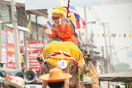 local festivals: Si Satchanalai Elephant Back Ordination Procession.