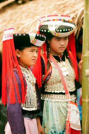 minority: Teen of Lisu Hil ltribe minority posing.