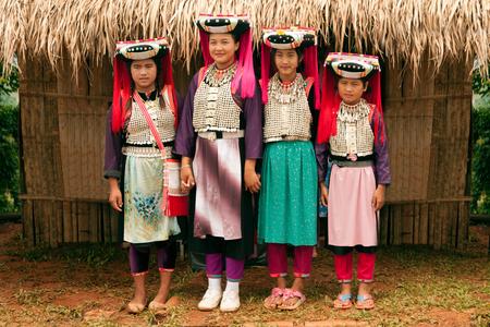minority: Teen of Lisu Hill tribe minority posing.