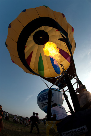 thailand: Hot air balloon in Thailand International Balloon Festival.