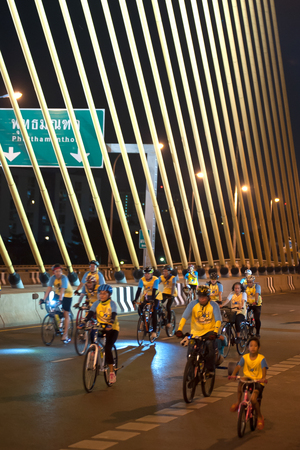 simultaneous: Bike for Dad Thailands cycling celebration for His Majesty the King.