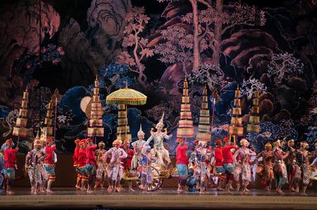 bangkok: Khon,Dance  performances of Thailand. Editorial