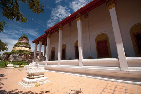 ayothaya: Ancient Pagoda in Wat Ayothaya temple.
