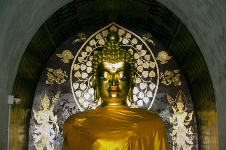 venerate: Sitting Buddha in Wat Chet Yot temple in Chiang Mai Province,Thailand.