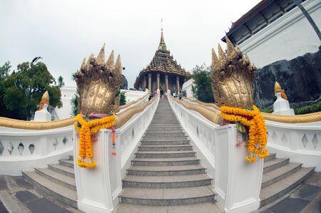 Phrabuddhabat Woramahavihan in Saraburi,Thailand. Stock Photo