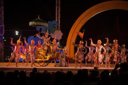 thai dancing: Khon is traditional dance drama art of Thai classical masked in Thailand.