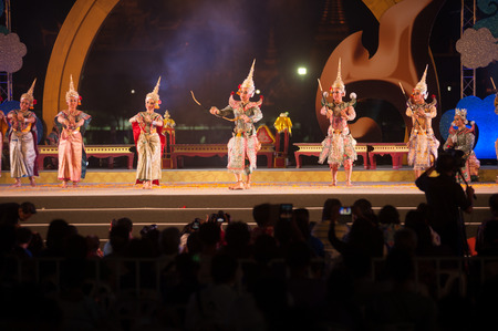 dance drama: Khon is traditional dance drama art of Thai classical masked in Thailand.