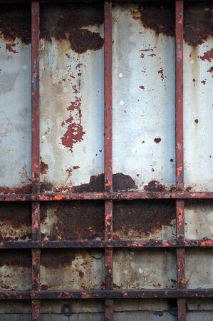 steel door: Abstract vintage steel door eroding rust.