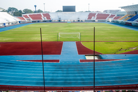 seating area: General view of Stadium . Stock Photo