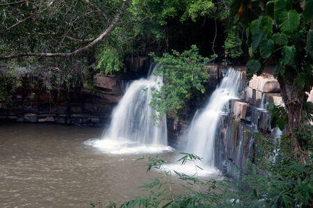 sopa: Kang Sopa Waterfall in National park. Stock Photo