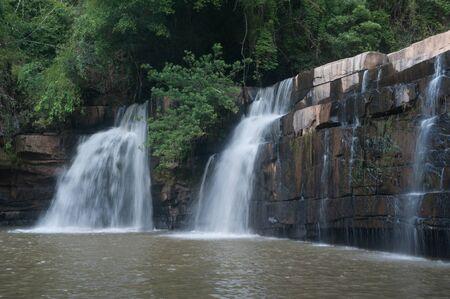 Kang Sopa Waterfall in National park. Stock Photo