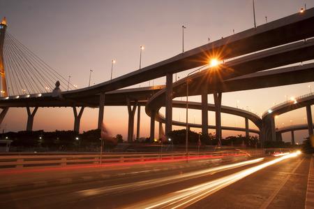 Bhumibol bridge the industrial ring bridge or mega bridge. Stock Photo