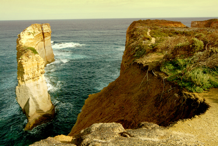 Evening at the twelve Apostles along the famous Great Ocean Road in Victoria, Australia. Stock Photo - 84562107