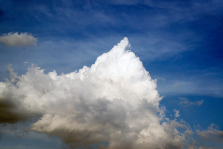 White cloud on the blue sky. Stock Photo