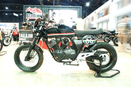 Nontaburi, Thailand. December 8, 2016 : Stallions motorcycle on display at Motor Expo 2016 on December 8, 2016 Nonthaburi ,Thailand.