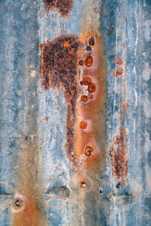 Old zinc sheets texture background, rusty on galvanized metal surface. 版權商用圖片