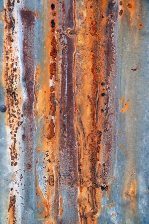 Old zinc sheets texture background, rusty on galvanized metal surface. 版權商用圖片