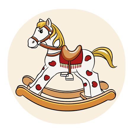 Rocking horse vector illustration 矢量图像