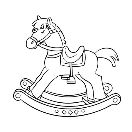 Rocking horse vector contour