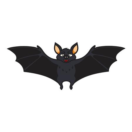Happy cartoon bat for Halloween.Vector illustration, isolated. 矢量图像