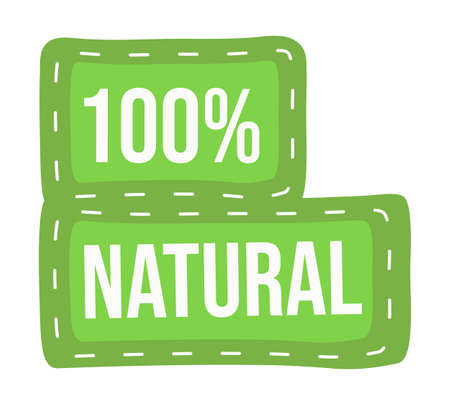 Eco friendly green design, 100 natural, organic, eco advertising and agitating, recycling, responsible using, green vector frame, healthy, environment protect, ecological product, vector