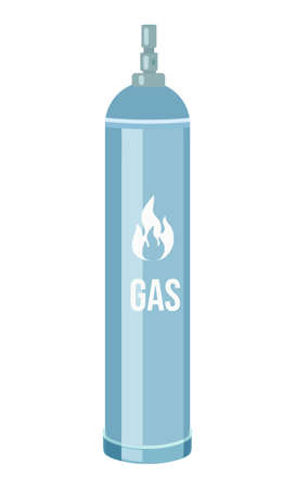 Gas cylinder vector tank. Propane bottle icon container. Oxygen gas cylinder canister fuel storage. Balloon with flammable sign. Oil fuel metal safety. Safe butane and propane, oxygen equipment