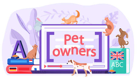 Computer application for pet owners to socialize get information and share photos of cats and dogs or other animals. Modern app for users to find an owner for homeless puppies at the shelter